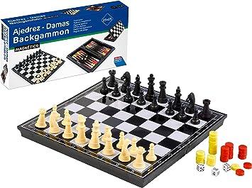 Falomir Ajedrez, Damas y Backgammon, Juego de Mesa, Clásicos, 23 cm (27905): Amazon.es: Juguetes y juegos