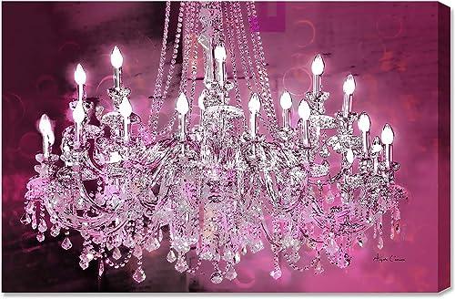 ANGELA CAMERON Chandelier Pink Fine Artwork