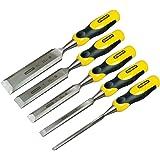 Stanley 216885 Kit de 5 ciseaux à bois + embouts Dynagrip (Import Grande Bretagne)