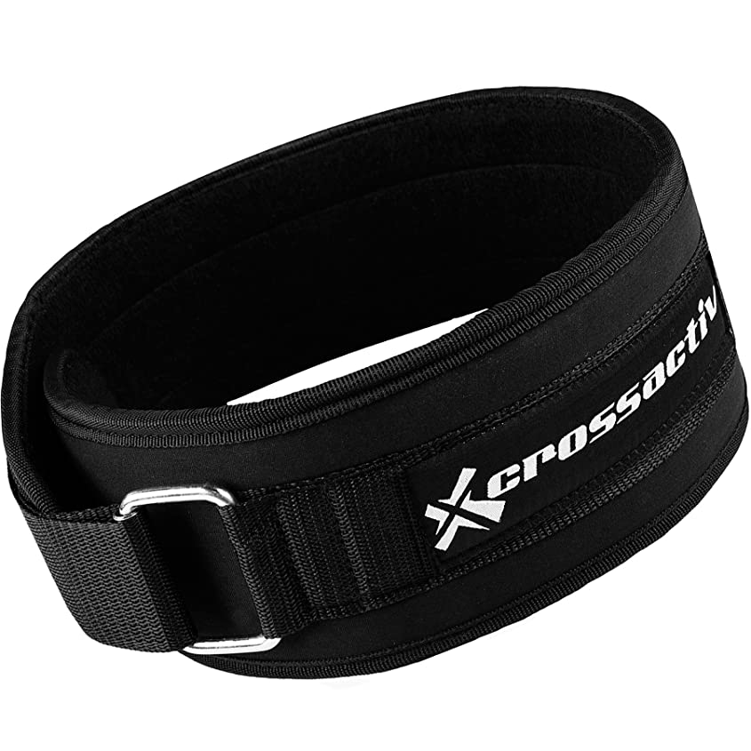 Crossactiv 4-inch Ultra Low Profile Weightlifting Lifting Belt and Back Support