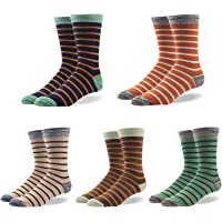 RioRiva Men Calf Socks for Dress Shoe 80% Cotton Big and Tall -Funky Colorful Fun Patterned