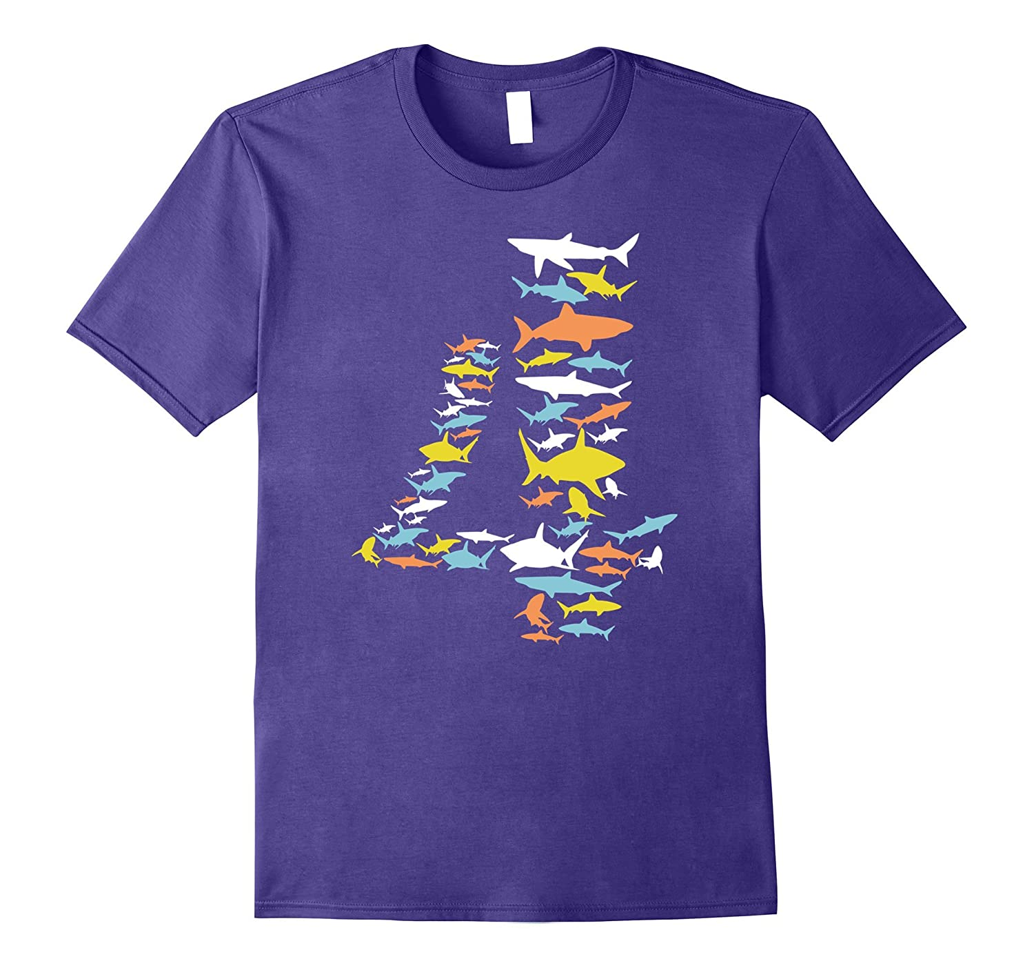 4th Birthday Shirt Types Of Sharks For 4 Year Old TJ Theteejob