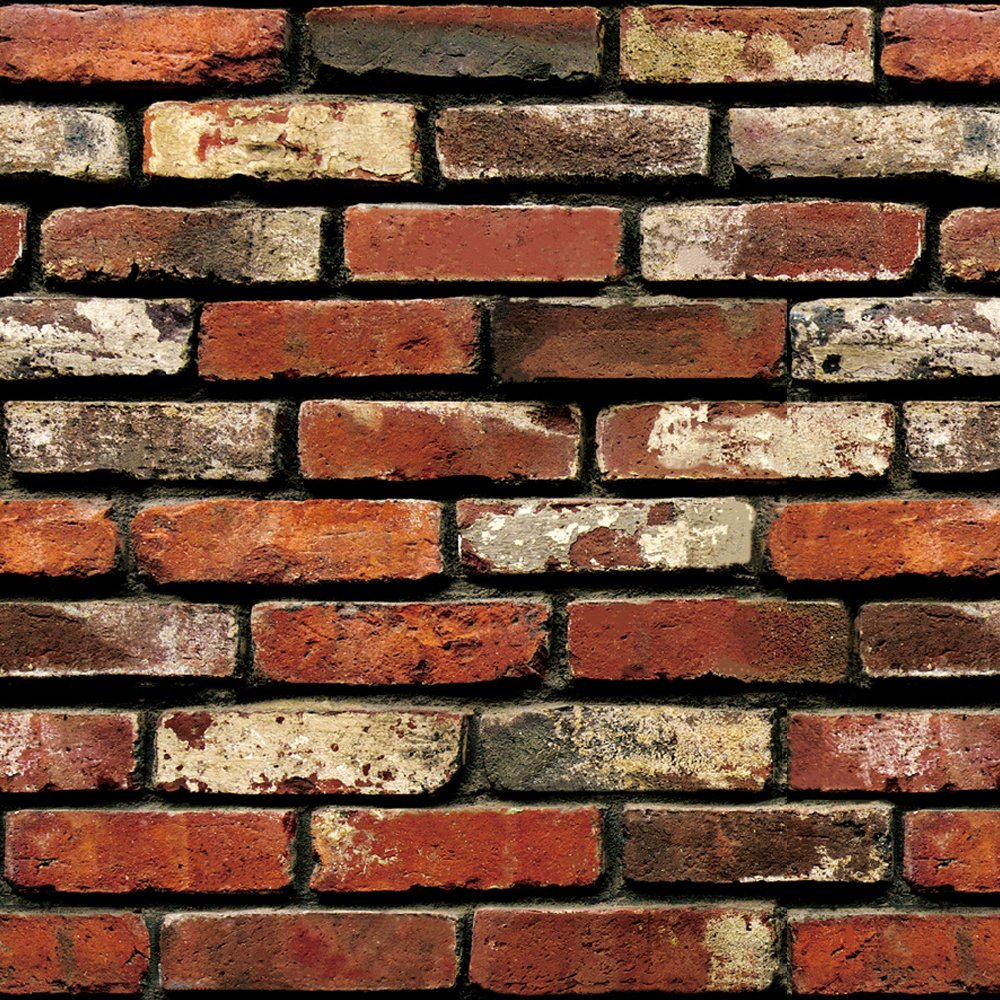 Brick Peel and Stick Wallpaper - Brick Wallpaper - Easily Removable Wallpaper - 3D Wallpaper Brick Look - Use as Wall Paper, Contact Paper, or Shelf Paper - 17.71'' Wide x 197'' Long - 24.22 sq. ft. (1) by GoGoDecal