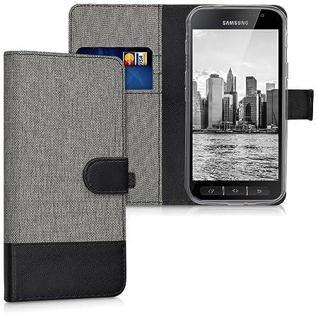 kwmobile Hülle für Samsung Galaxy Xcover 4 - Wallet Case Handy Schutzhülle Kunstleder - Handycover Klapphülle mit Kartenfach