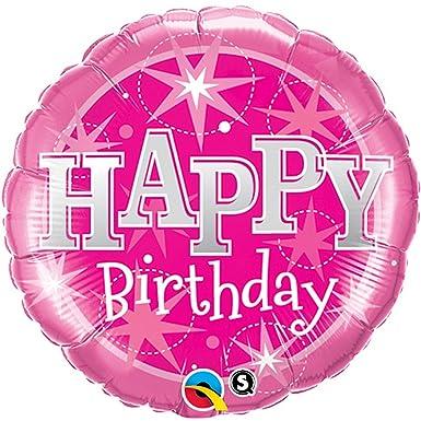 Amazon.com: Qualatex 18 inch Ronda globo Feliz cumpleaños ...