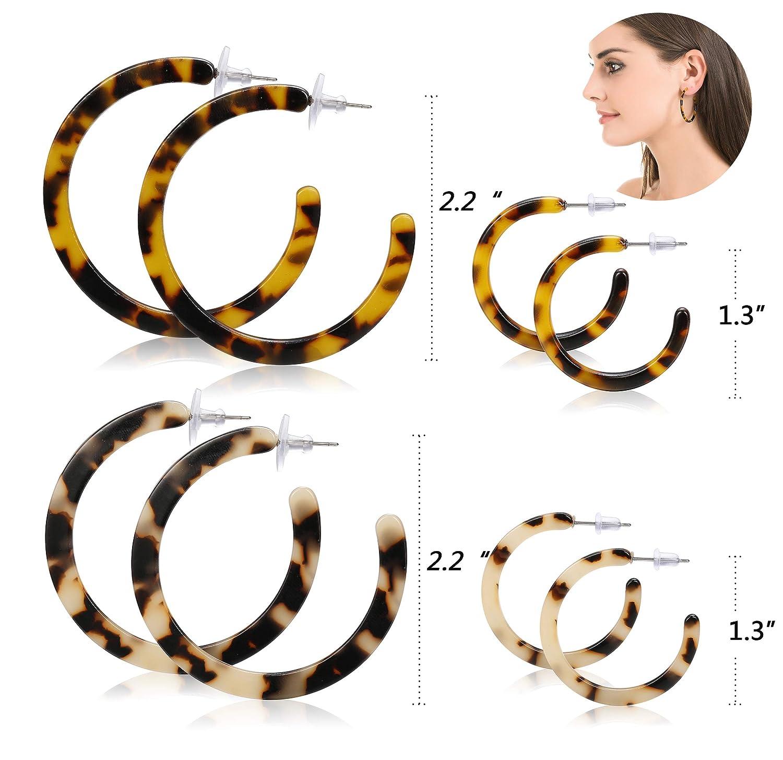 Drop Earrings C Shape Acrylic Marbled Earring Leopard Round Hoop Earrings Women Tortoise Shell Jewelry For Women Christmas Gifts Complete In Specifications Earrings