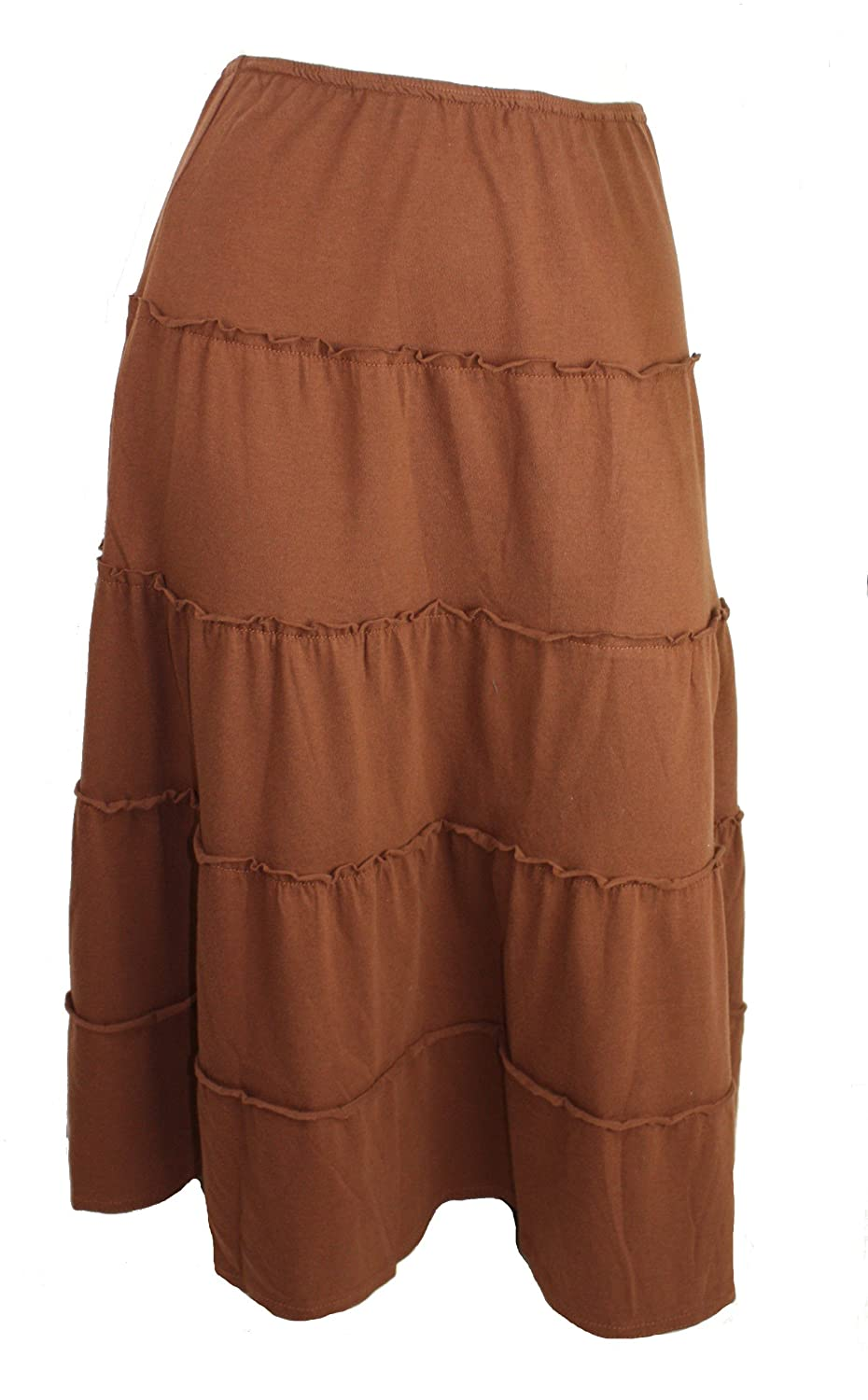 Clues Collections Peasant Skirt (Brown)