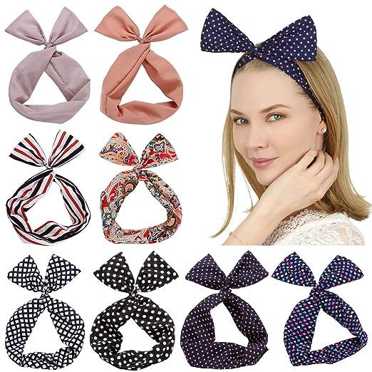 Hairbands Headbands Neckerchief Scarf Bracelet Ribbon Twilly #c951 2 PC