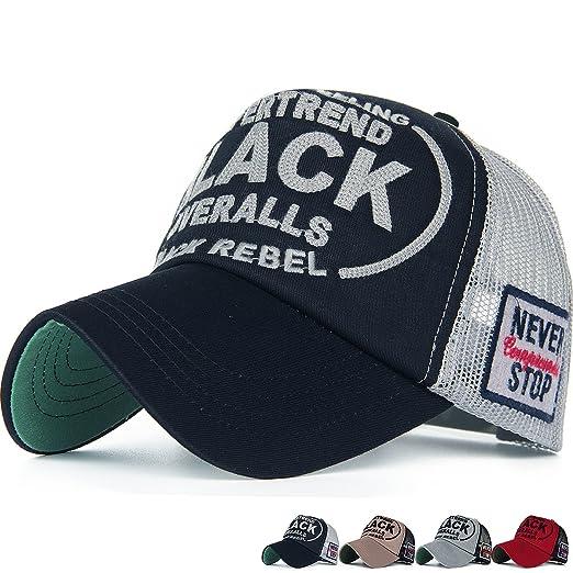 REDSHARKS Structured Adjustable Snapback Mesh Trucker Hat Baseball Cap Dad  Hat Embroidered Patch Black dca50bde865