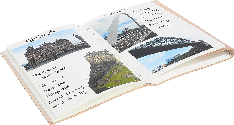 Gusti Cuero naturePaulina Libreta de Notas 200 P/áginas /Álbum Libro de Recetas Formato A5 Vintage Retro Universidad Trabajo Oficina Papeler/ía P44