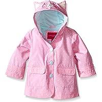 London Fog Baby Girls' Enhanced Radiance Kitty Cat Rain Slicker, Dot Print, 12 Months
