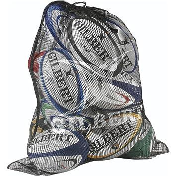 GILBERT rugby deporte ligero bolsa de almacenamiento bolsa de malla fina 12 bola sacos: Amazon.es: Deportes y aire libre