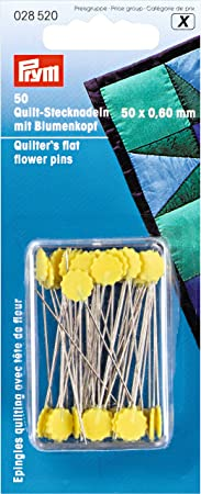 Quilting Pins with Flower head 50 x 0.6 mm Ironable sewing patchwork Prym 028520
