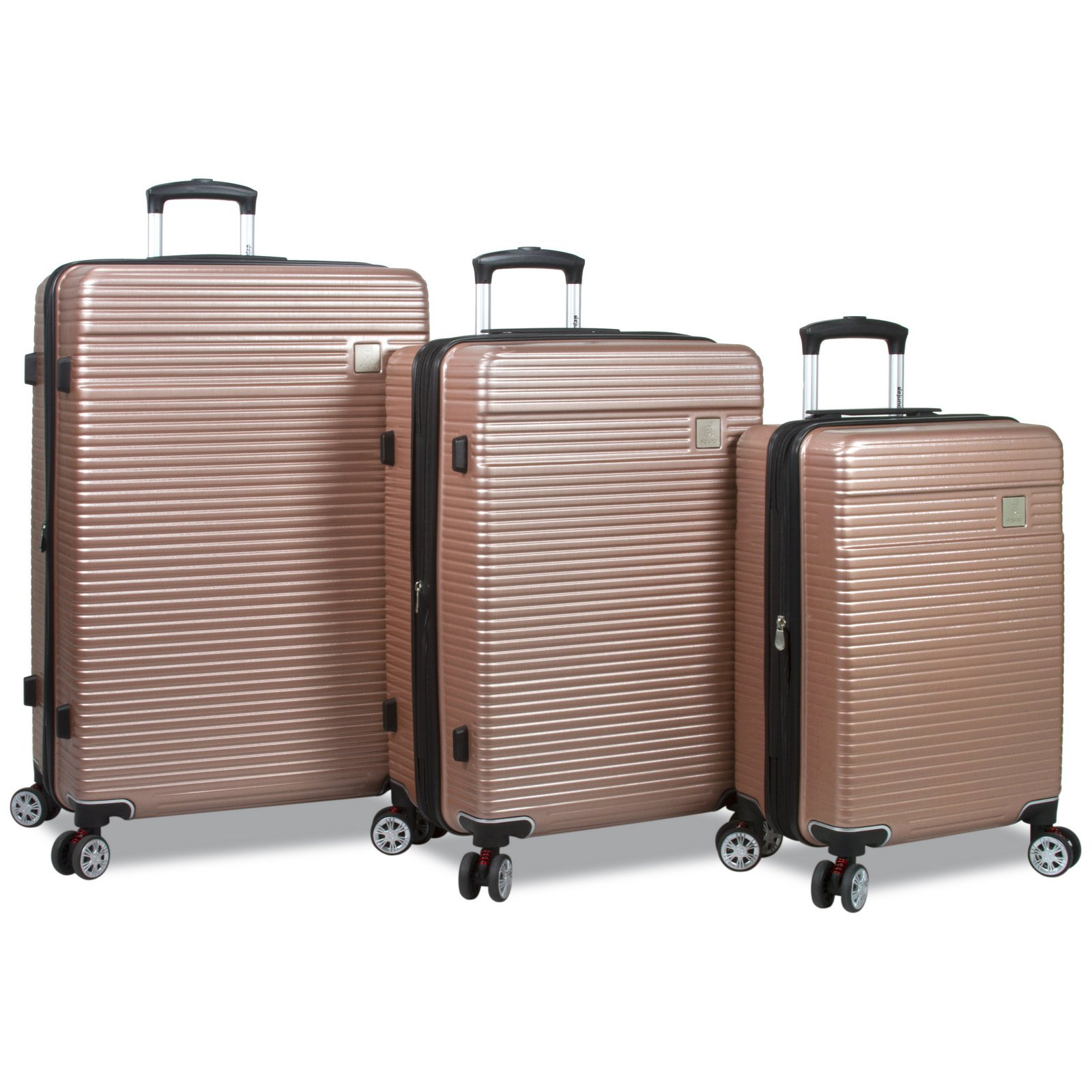 Dejuno Ashford 3-pc Hardside Spinner TSA Combination Lock Luggage Set-Rosegold, Rose Gold by Dejuno