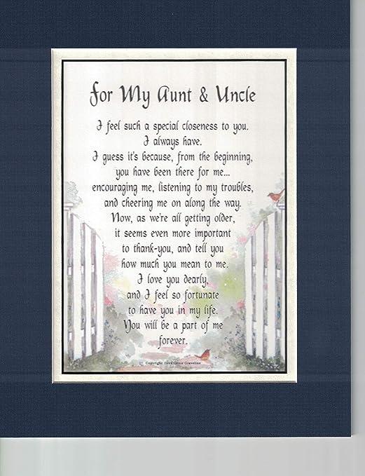 Durchsuchen Sie die neuesten Kollektionen Wählen Sie für neueste online zum Verkauf A Touching Poem Gift Anniversary Birthday Present For An Aunt & Uncle, 69,