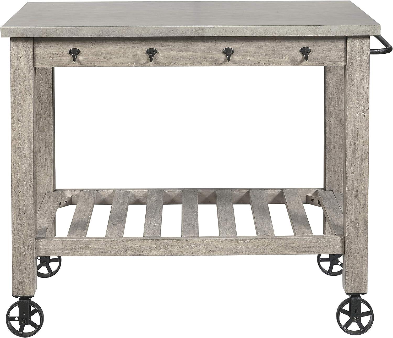 Stone & Beam Industrial Serving Cart 36