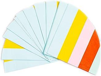 Sugar & Cloth Round Paper Napkins, Rainbow Stripe, 32 Count