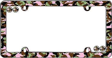 amazoncom cruiser accessories 23095 black camo license plate frame with fastener caps automotive