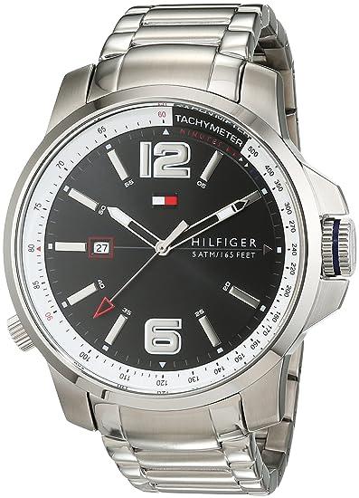 Caballeros-Reloj analógico Deportivo Sofisticado Tommy Hilfiger de Acero Inoxidable de Cuarzo 1791222: Amazon.es: Relojes