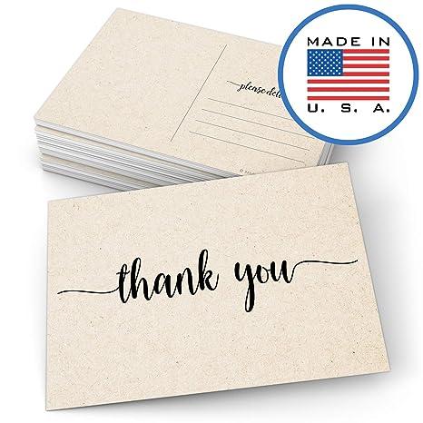 Amazon.com: Tarjetas postales de agradecimiento 321Done de ...