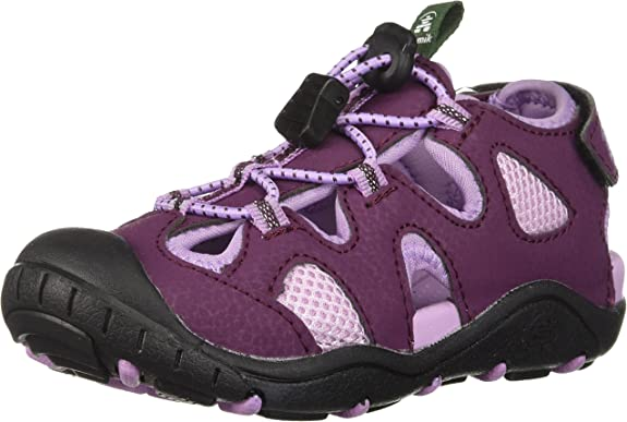 Kamik Girls' Oyster2 Sandal, Dark Purple/Lilac, 11 M US Little Kid