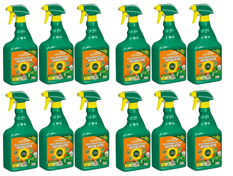 12 x 750 ml Celaflor Rasen Unkrautfrei Anicon ultra Spray Anwendungsfertig