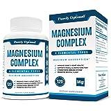 Premium Magnesium Complex - Magnesium Citrate, Malate, Taurate, Oxide, Aspartate, Bisglycinate Chelate TRAACS - Max Absorptio
