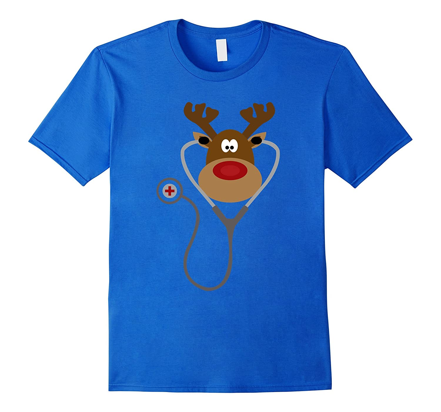 NURSE REINDEER Funny Cute Christmas T Shirt Nursing Holiday-FL