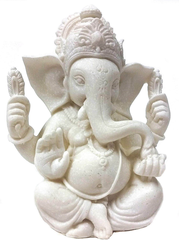 Bellaa 23743 Ganesha Statue Hindu God Lord Ganapati Idol Blessing Ganesh Sculpture Indian Elephant Buddha India Diwali Pooja Ritual Home Decoration Good Luck Success Housewarming Gift 6 inch
