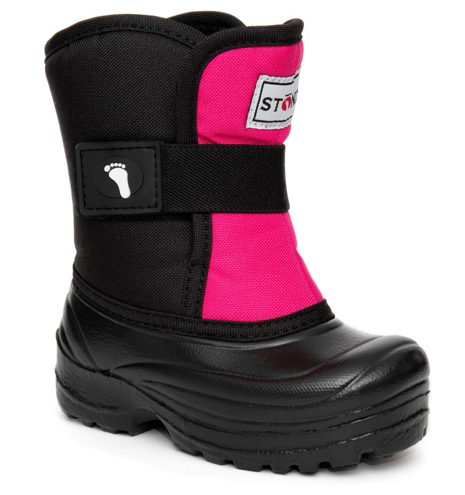 Stonz Scout Winter Boots for Cold Weather, Snow, Ice and Winter Sports - Insulated, Super Light & Warm - Pink/Black, 7T