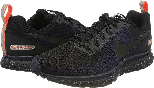 Nike Mens Air Zoom Pegasus 34 Shield Running Shoes (7.5 D(M) US,  Black/Black-Obsidian)