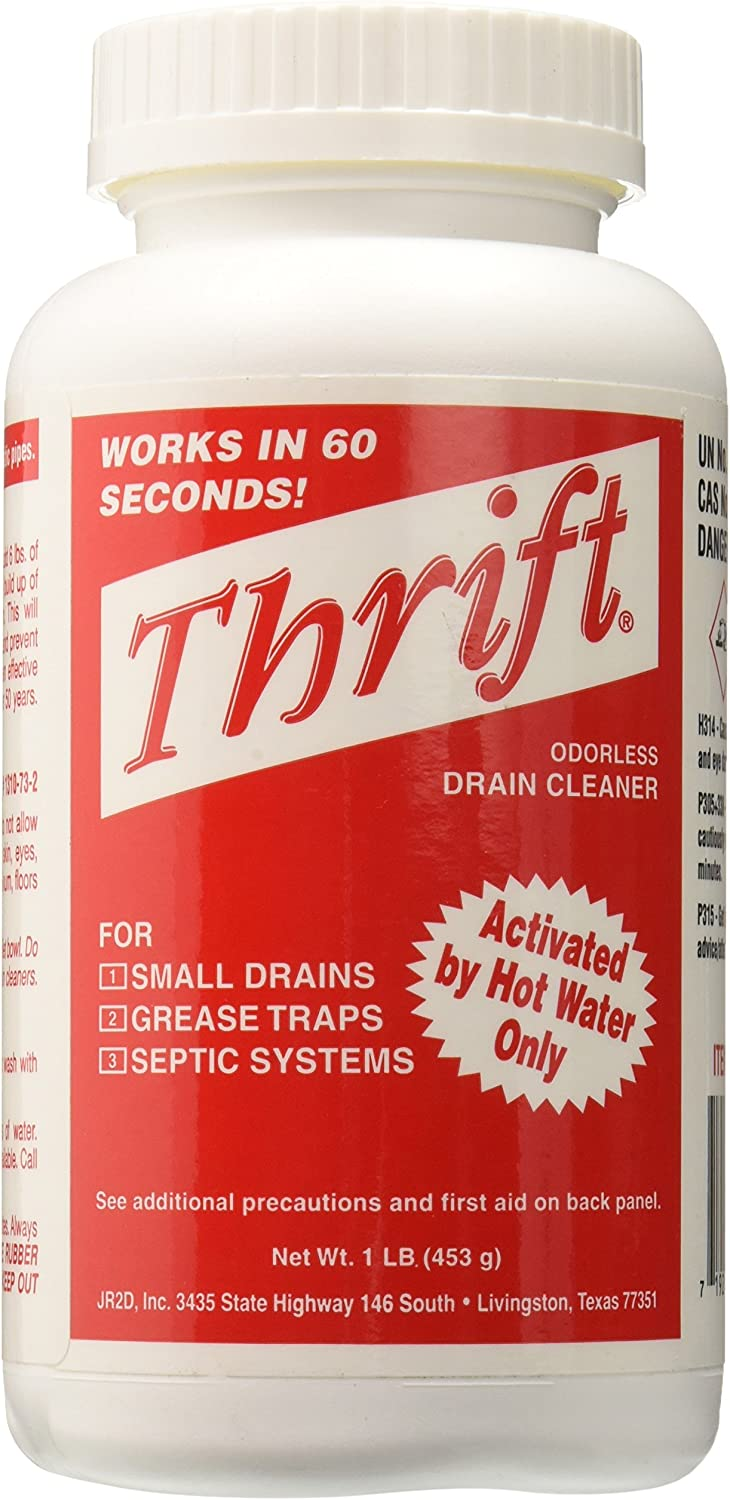 Thrift T-100 Alkaline Based 1-Pound Granular Drain Cleaner: Home Improvement
