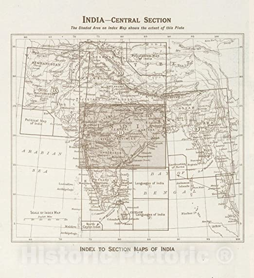 Amazon.com: Historic Map | Index Map: India - Central ... on basel map, wald map, verbier map, hanover map, swiss alps map, strasbourg map, dissolution soviet union map, lugano map, gstaad map, zermatt map, stockholm sweden map,