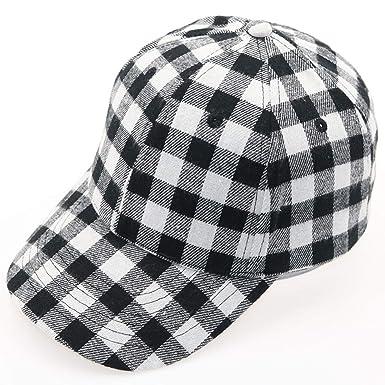 03c70ab2be9 Winter Baseball Cap Red Blue Black White Plaid Cotton Cap Hat Women  Adjustable Lattice Hat Female