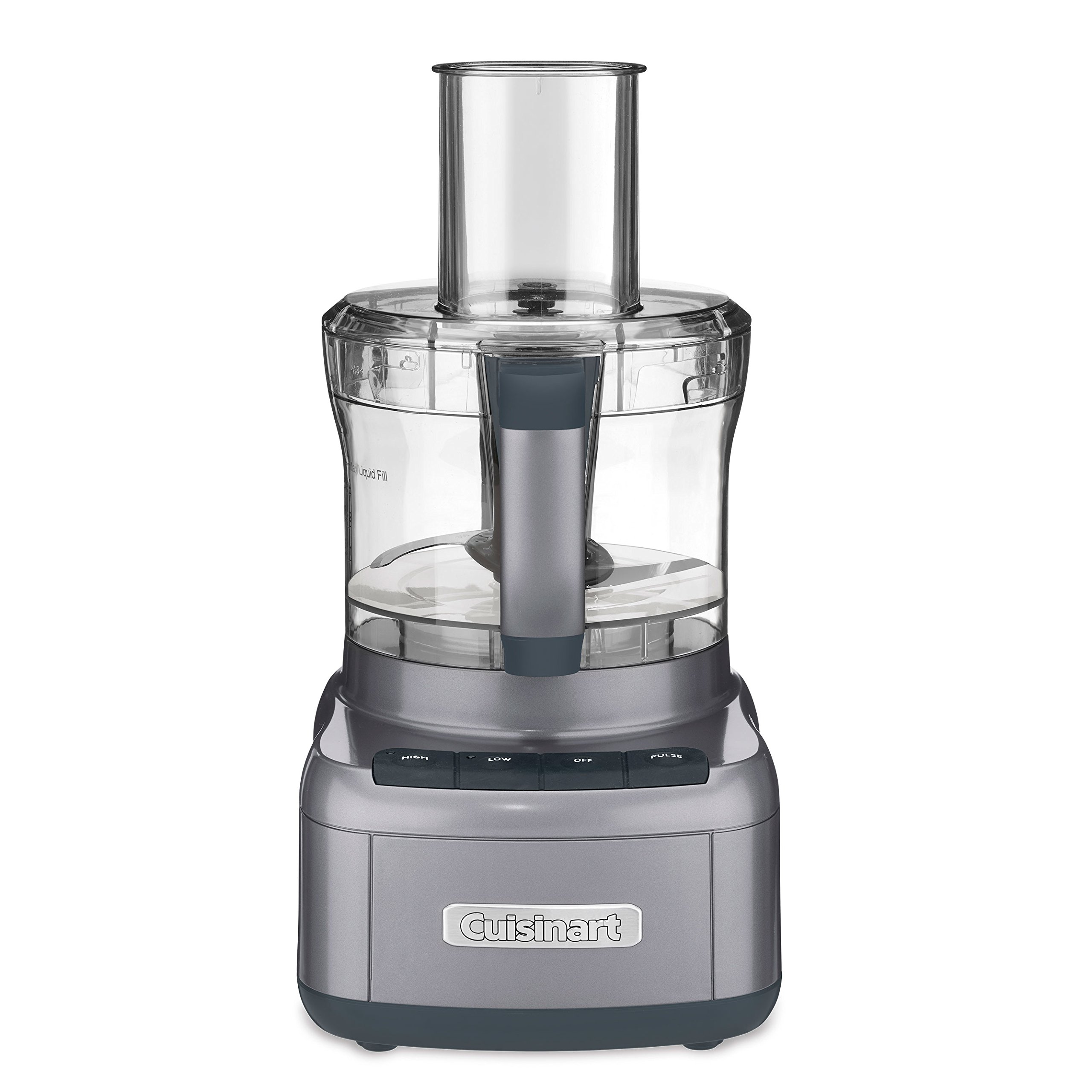 Cuisinart FP-8GMFR 8 Cup Food Processor, Gunmetal (Certified Refurbished)