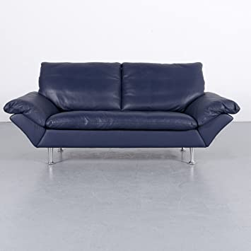 Amazonde Rolf Benz Designer Leder Sofa Blau Zweisitzer Couch