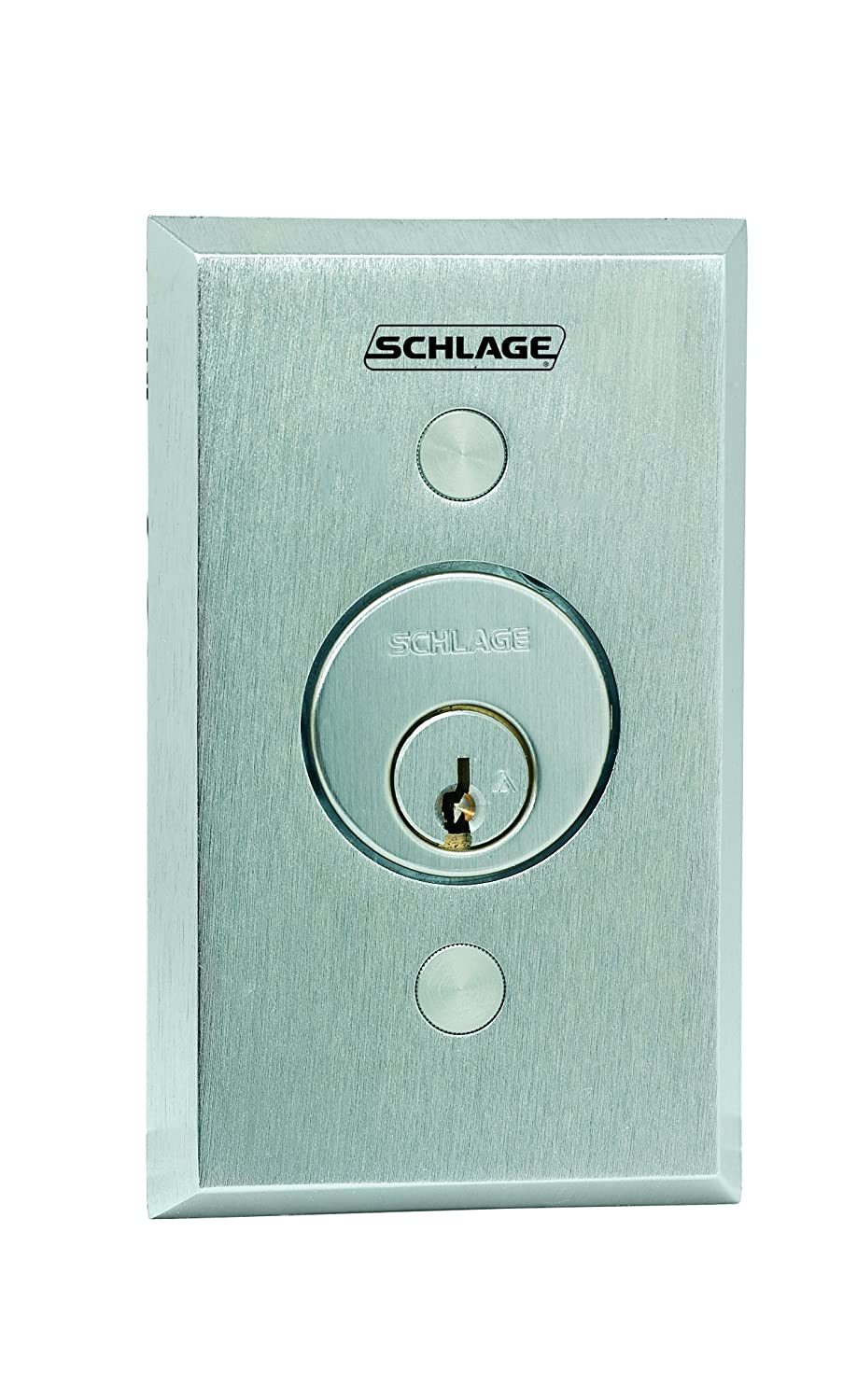Image of Schlage Electronics 653-05 Keyswitch, SPDT Momentary Single Direction, Satin Chrome Finish, Less Cylinder