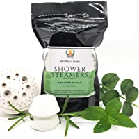 Breathe Clear Eucalyptus with Menthol Aromatherapy Shower steamer gift pack, 10 tablets, Wildfire Aromatics