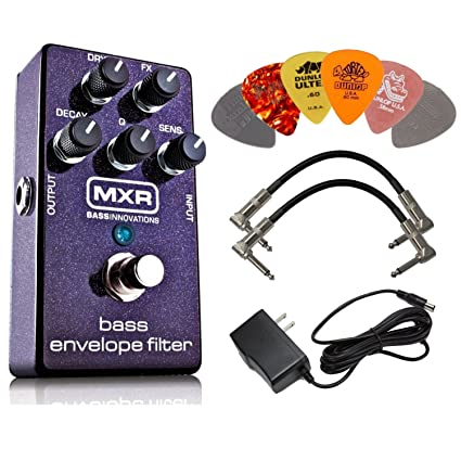 MXR M82 Bass Envelope Filter Effects Pedal BUNDLE with AC/DC Adapter Power Supply for