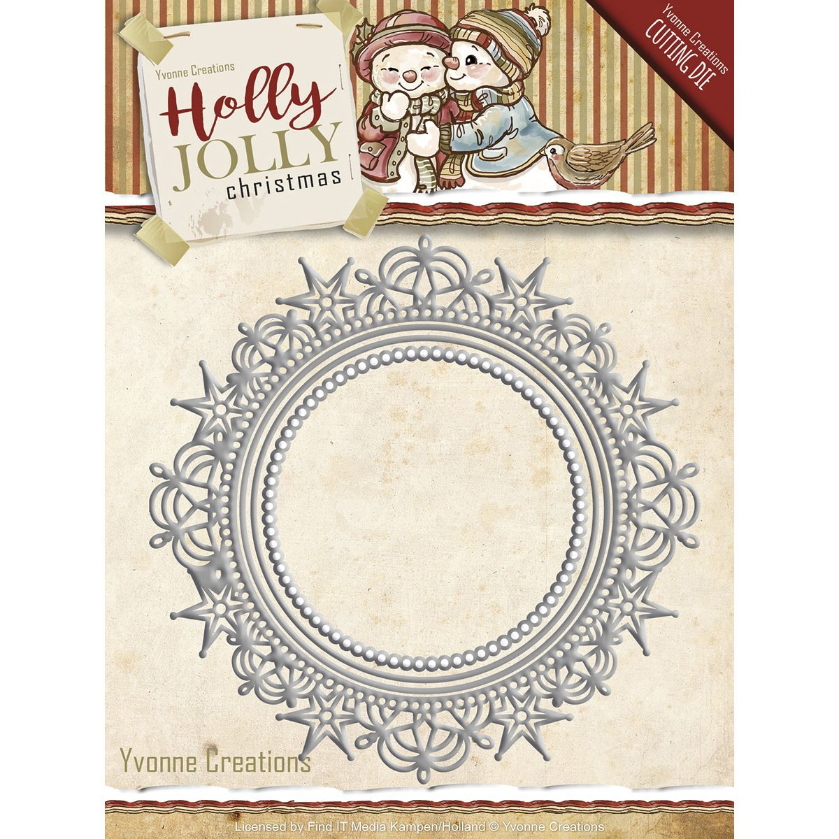 Find It Trading Yvonne Creations Holly Jolly Die-Nesting Frame 455515