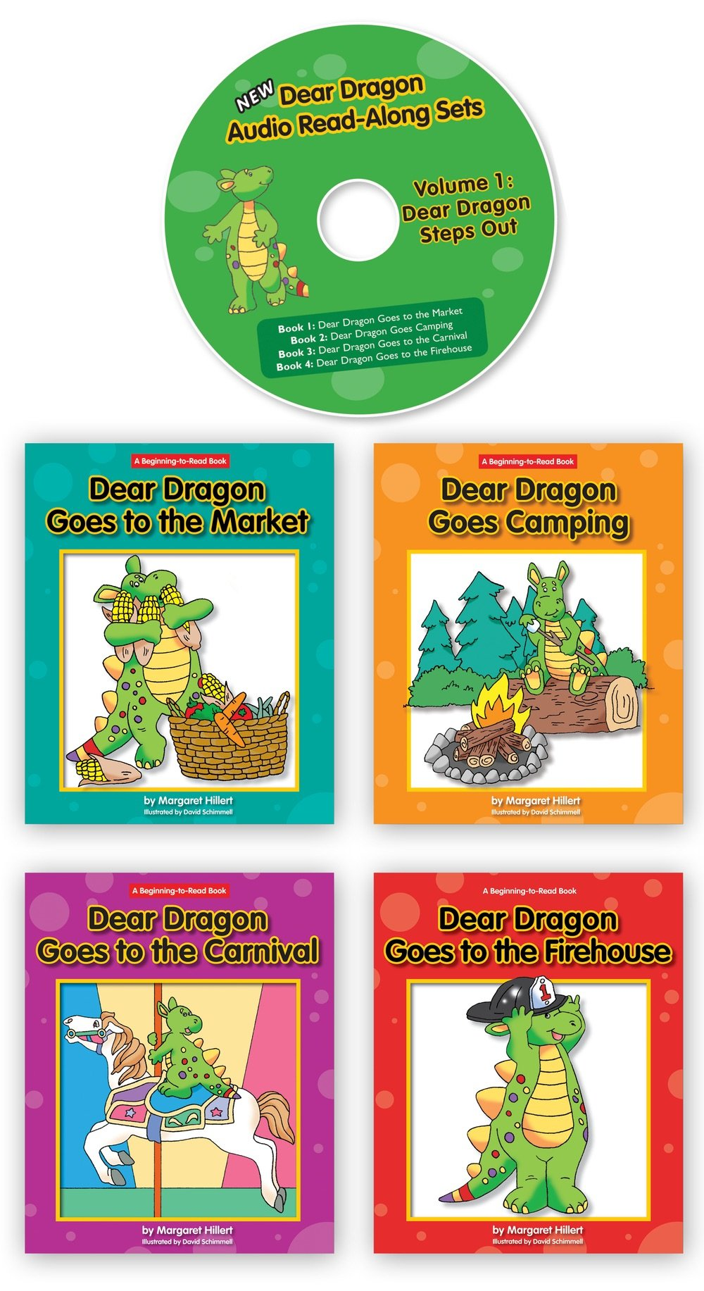 Dear Dragon Steps Out Volume 1 CD and Hardcover Books (Go Reader Read Along Sets) ebook