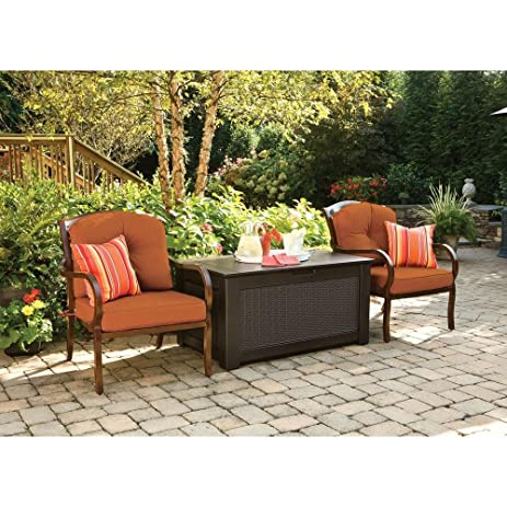 Rubbermaid 93 Gal. Resin Patio Storage Bench Deck Box, Dark Brown