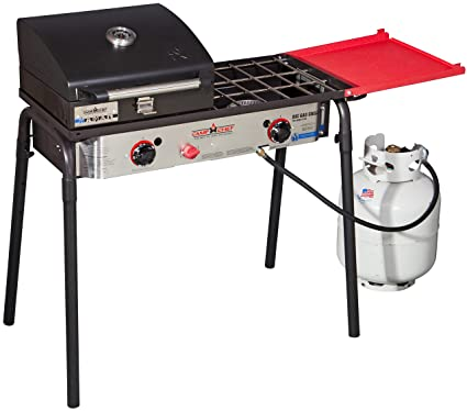f97273dcb44b Amazon.com : Camp Chef Big Gas Grill 2X (SPG60B) 2-Burner Stove with ...