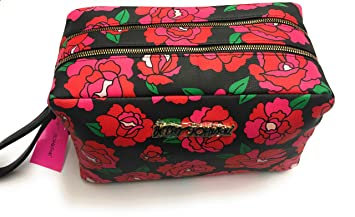 faaf83d09f12 Amazon.com: Betsey Johnson Red Floral Oversized Weekend Travel ...