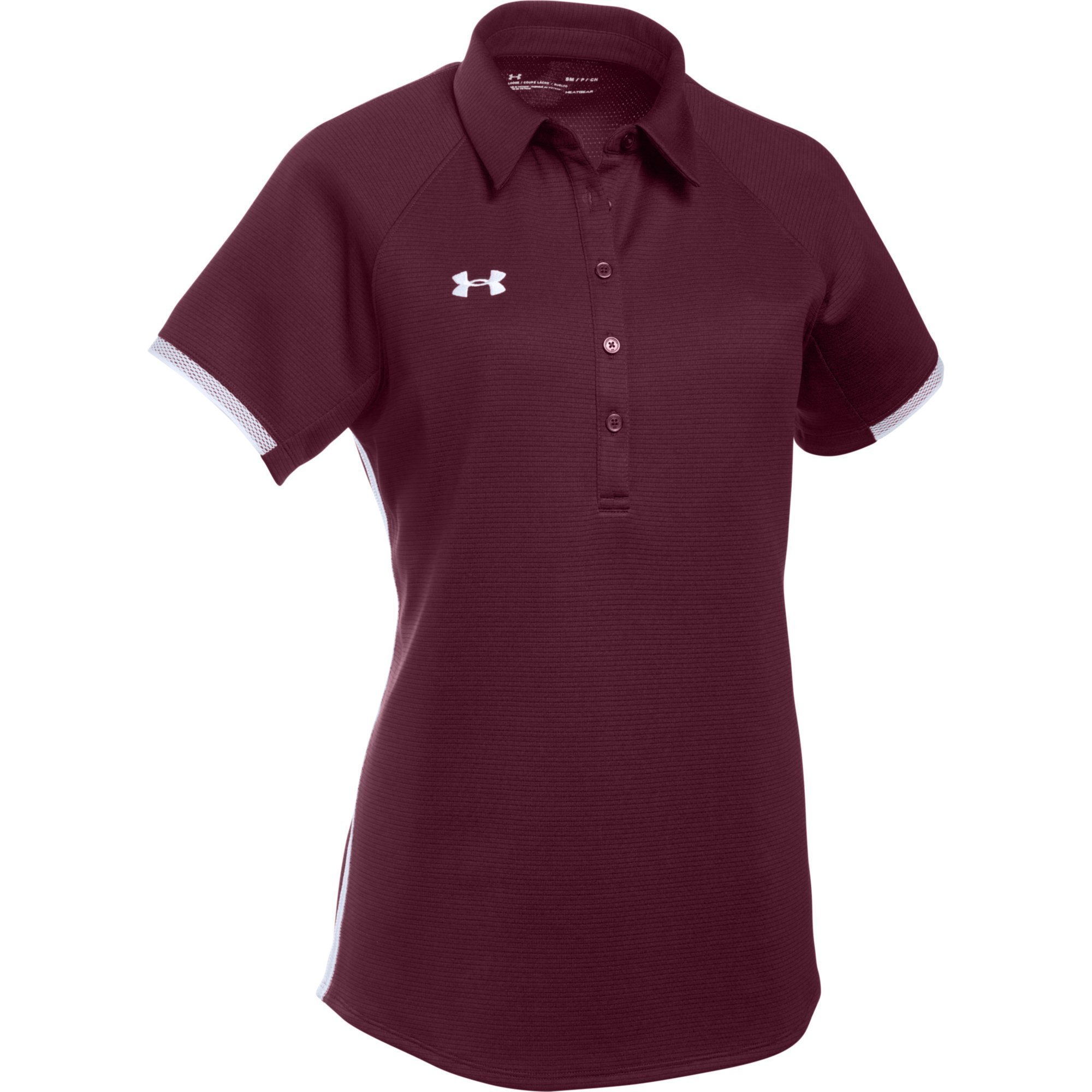 Under Armour Women's UA Rival Polo (XX-Large, Maroon-White) by Under Armour