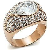 Elegant Top Grade Crystal Cocktail Engagement Ring 5 6 7 8 9 GL124