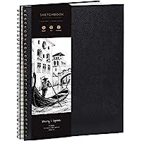 Schetsboek voor kunstenaars, gebonden, DIN A3 – zeer sterk papier, 200 g/m² – groot, spiraalgebonden schetsboek voor…