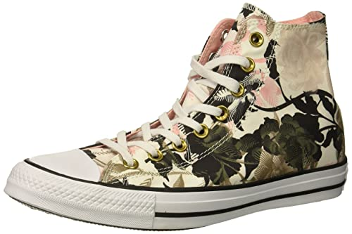 CONVERSE Chuck Taylor Flower Print High Tops Grey All Star For Sale