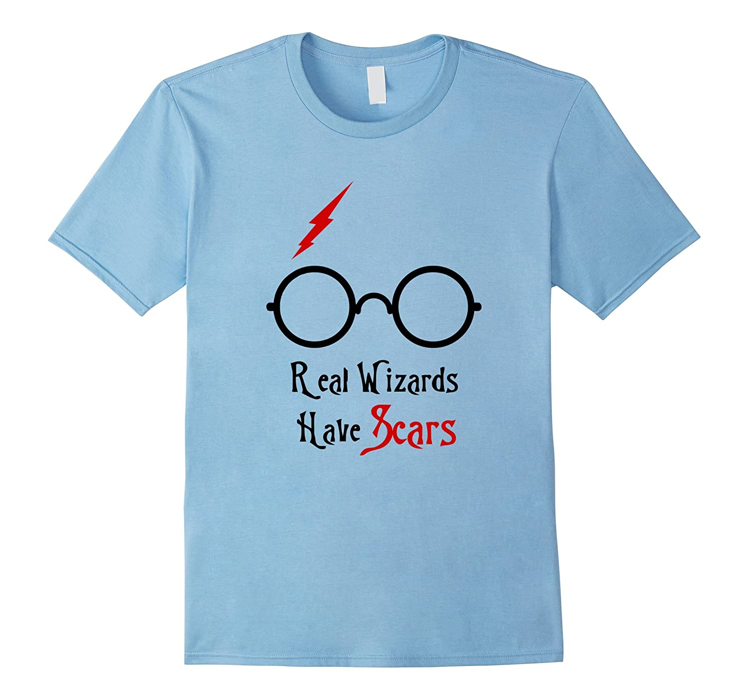Real Wizards Have Scars Glasses H. Potter T-Shirt-Art