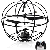Top Race Robotic UFO 3-Channel Rc Remote Control I/R Flying Ball